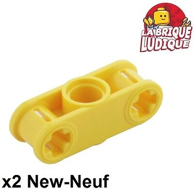 LEGO® Yellow Technic Axle and Pin Connector Perpendicular 3L Part 32184
