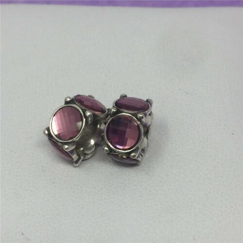 Brighton  2 PINK  Silver Roundabout  Crystal Spacer Bead NWOT