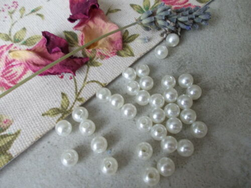 CHOOSE SIZE OF PEARLS 4MM,6MM,8MM,10MM,12MM,PEARLY ACRYLIC BEADS,JEWELLERY