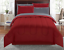 New 8 Piece Red Full Size Comforter Set Bedspread Bed in a Bag Bedding Sheets