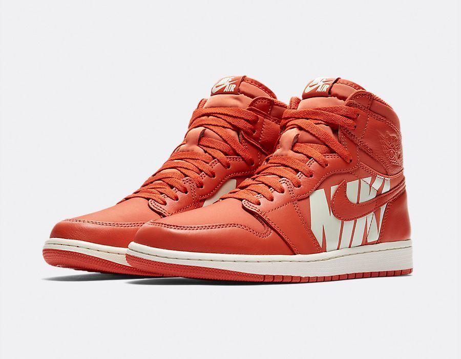 Nike Air Jordan 1 Retro High OG size 14. Vintage orange Sail Canvas. 555088-800.