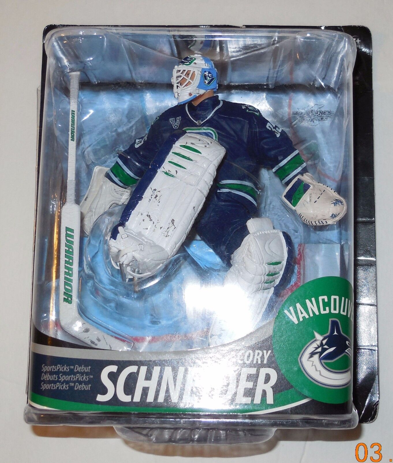 Mcfarlane NHL Series 33 Cory schneider 3rd Jersey CL Variant Action Figure VHTF