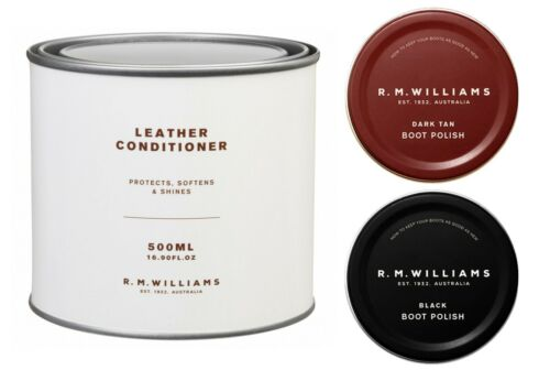 RM Williams 500ml Leather Conditioner 2 Stockman/'s Boot Polish Deal