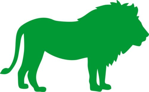 LION SILHOUETTE VINYL DECAL STICKER CAR//VAN//WALL//DOOR//LAPTOP//TABLET//FRAME
