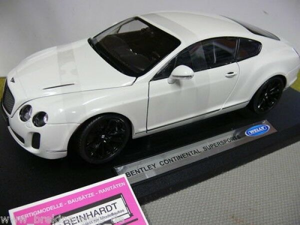 1 18 Welly Welly Welly Bentley Continental Supersports weiss 9f4c53