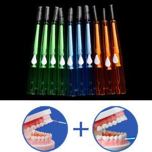 10X-Clean-Tooth-Floss-Head-Hygiene-Dental-Plastic-Interdental-Brush-Toothpick-MR