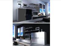 High Gloss Living Room Furniture Set Black Or White Cabinet Cupboard Sideboard