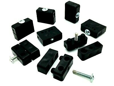 NEW MODESTY FIXIT FURNITURE CONNECTING JOINING BLOCK BLACK packet of 40