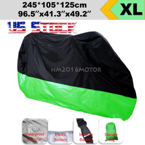 XL Waterproof Cover For Kawasaki Ninja ZX6 ZX6RR ZX7 RR ZX600 ZX750 ZX900 US