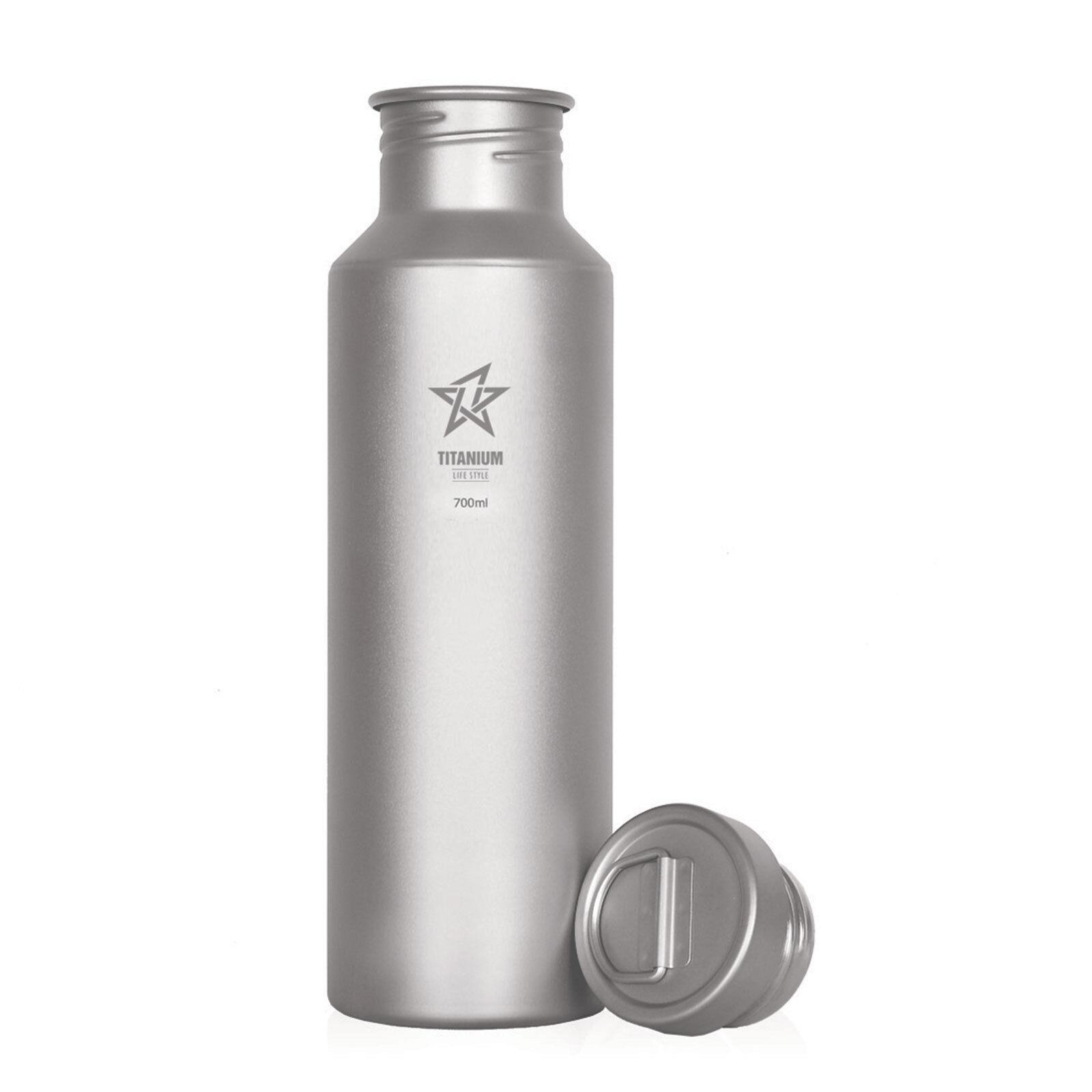 Titanium Water Bottle with Ti Cap 24 Fl.OZ FREE Titanium Carabiner with purchase