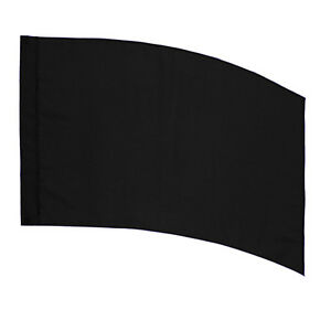 Color Guard Practice Flag (PCS) - Curved Rectangle - Black 813814025868