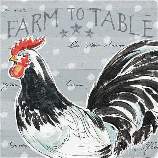 Daphne brissonnet  roosters call III stretcher-image screen living hen