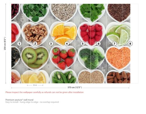 Groenten en fruit Hearts Fotobehang Wallpaper WS-42637