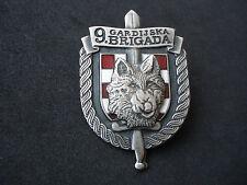 "Croatia army, 9. Guard Brigade, ""Vukovi"", Wolves, cap, beret badge; Homeland war"
