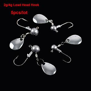 5Pcs-lot-Crank-Jig-Head-Hamecon-Plomb-jig-leurre-dur-appats-Ver-Metal-Peche-Crochet