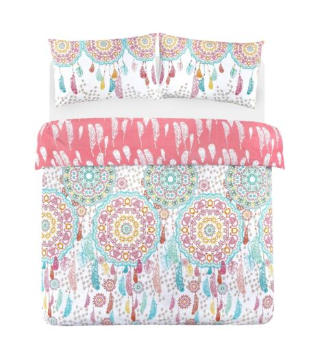 NightComfort Indian Mandala Bohemian Feathers Duvet Cover /& Pillows Bedding Set