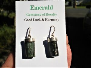 Emeralds-Sterling-Silver-Settings-Earrings-Rough-Natural-Emeralds-Rare