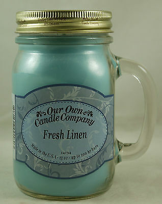OUR OWN CANDLE COMPANY  - LARGE JAR MASONS - FOOD AND SPICE SCENTED FRAGRANCED