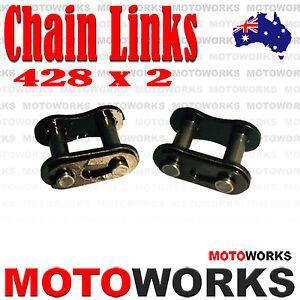2-x-428-Chain-Join-Links-for-ATV-QUAD-Bike-Gokart-Buggy-PIT-PRO-Trail-Dirt
