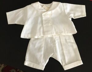 98f7b4b94 Coccoli Boys Long Sleeves and Pants Linen Suits White or French Navy ...