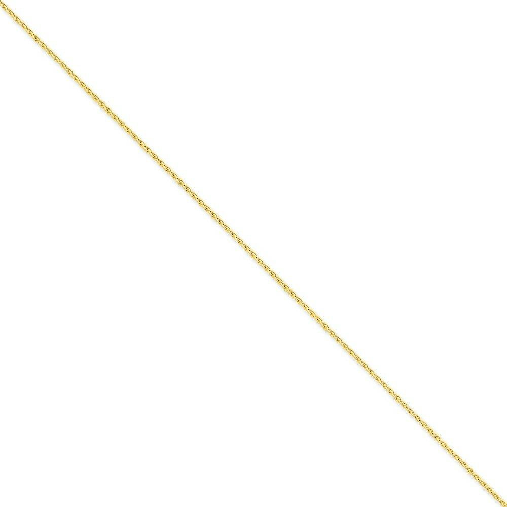 14k Yellow gold 1.5mm Parisian Wheat Chain Bracelet 7 Inch