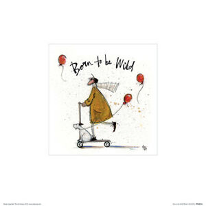 Sam-Toft-Born-To-Be-Wild-Kunstdruck-30-X-30-cm-Offiziell-Lizenziertes