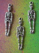 25 Skeletons Full Body Skeleton Skull Bone Coffin Charms for Jewelry Making