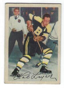 1953-54-Parkhurst-NHL-Hockey-Hal-Laycoe-Boston-Bruins-Card-87