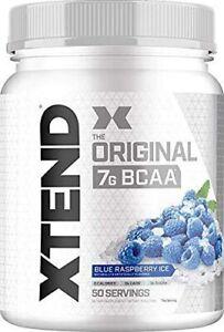 Scivation XTEND Original BCAA Powder - 50 Servings - Blue Raspberry Ice