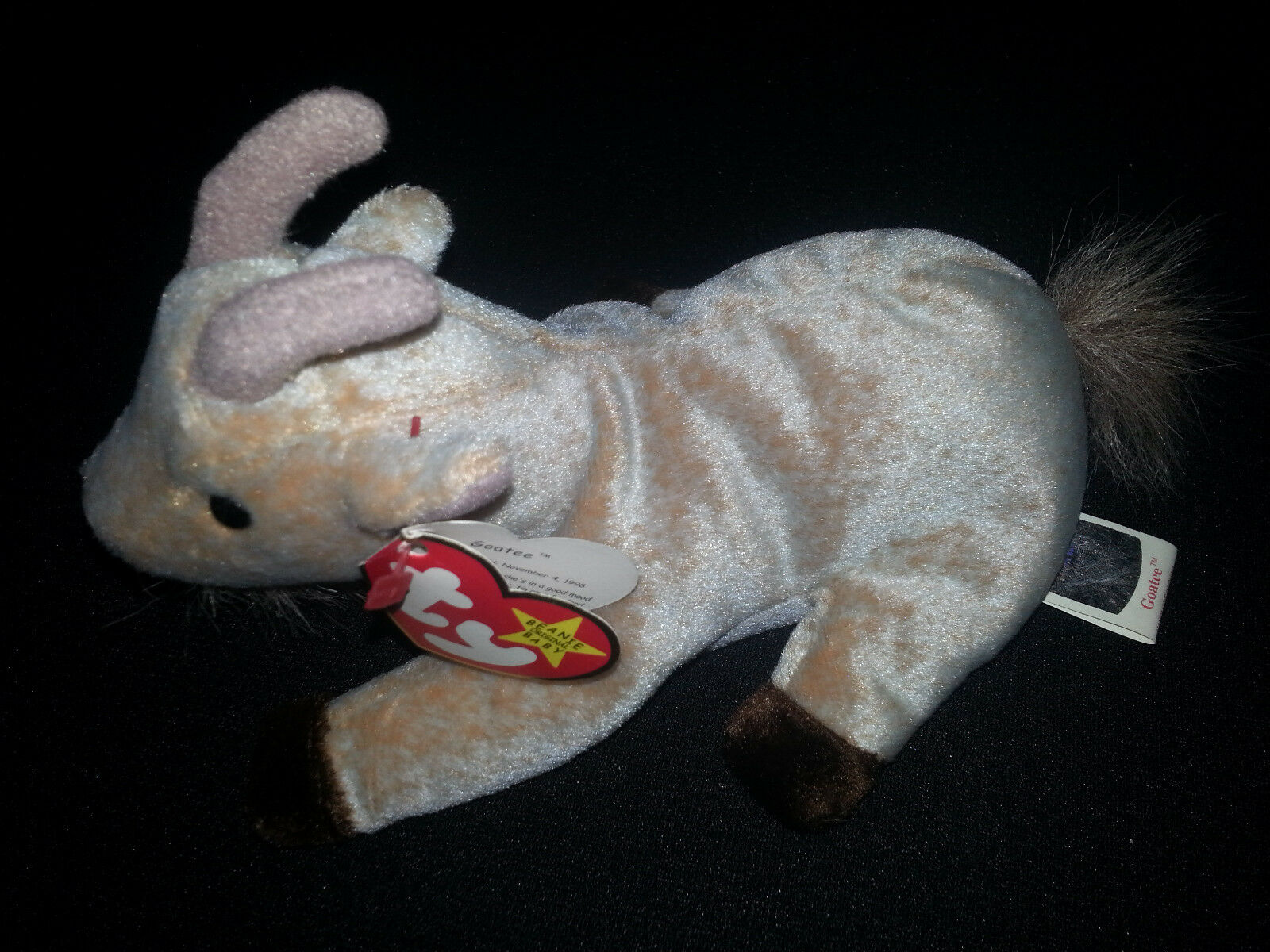 Rare    GOATEE The Goat TY Beanie Baby Plush Retired Multiple Tag Errors