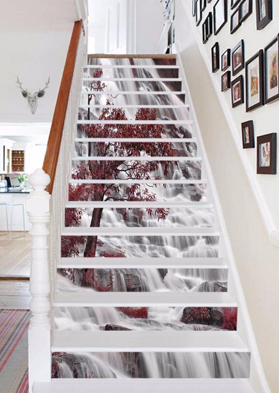 3D Falls Tree 548 Stair Risers Decoration Photo Mural Vinyl Decal Wallpaper UK
