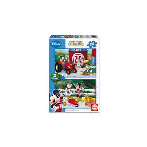 Puzzle-Educa-15290-Disney-2-de-20-piezas-Casa-de-Mickey-Mouse-Clubhouse