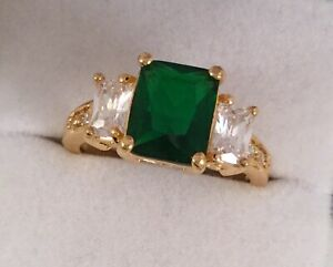 Vintage-Jewellery-Gold-Ring-Emerald-White-Sapphires-Antique-Deco-Jewelry-9-S