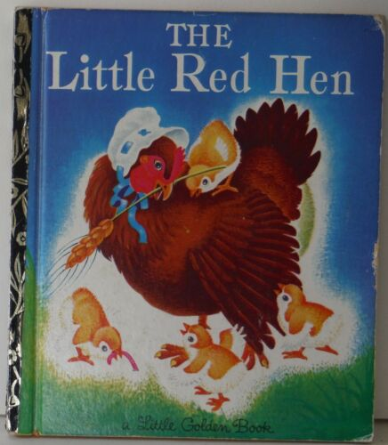 The Little Red Hen By J P Miller Rudolf Golden Book LGB 1972 HB GC Folk Tale