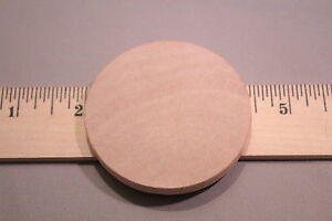 2-pc-lot-New-Raw-Unfinished-Wood-Craft-2-3-8-034-Solid-Circle-Made-in-USA