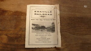 1949-EDAVILLE-RAILROAD-TIMETABLE-SCHEDULE-BOOKLET-MASSACHUSETTS-to-BALL-PARK