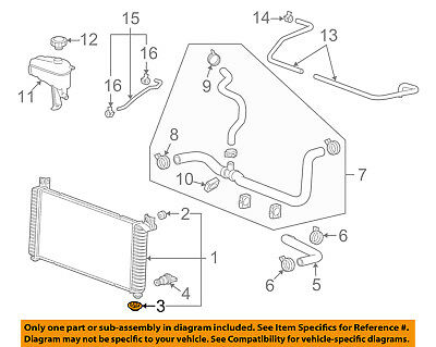 Genuine GM Radiator Lower Insulator 10188023