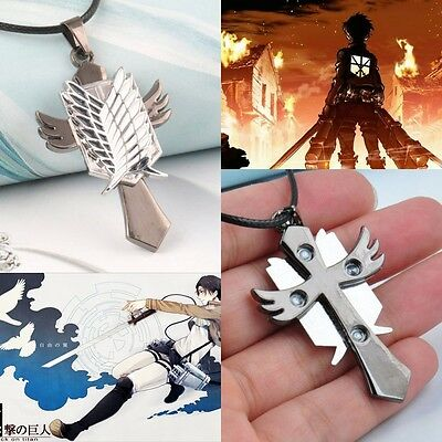 Wings of Liberty Necklace PU Chain Cartoon Attack On Titan Survey Bin Mission