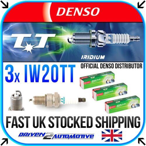 3x Denso TT Bujías de Iridio IW20TT Para Subaru Justy 1000 4WD 05.87-11.94