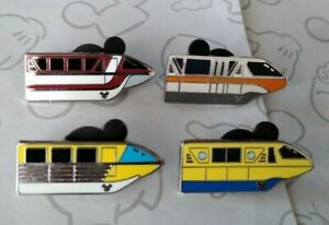 Monorail-2011-Hidden-Mickey-DLR-Monorails-Cast-Lanyard-Set-Choose-a-Disney-Pin