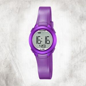Calypso-Plastic-Pure-Women-039-s-Watch-K5677-2-Wrist-Watch-Purple-Digital-UK5677-2