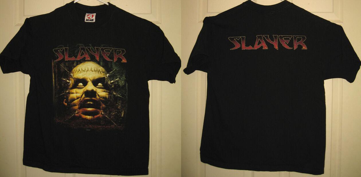 SLAYER Shirt M 2000 Kerry King Araya Thrash Metal Australia Tour OOP RARE HTF