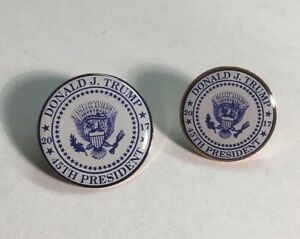 Donald-Trump-45th-Presidential-Seal-Lapel-Pin-2017-MADE-IN-USA-SET-OF-2
