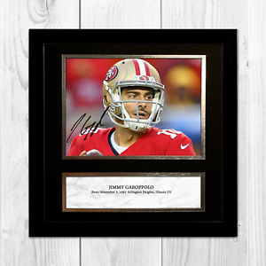 JIMMY-GAROPPOLO-NFL-San-Francisco-49ers-ENCADREE-NON-encadre-signe-Poster-10-034-x-10-034