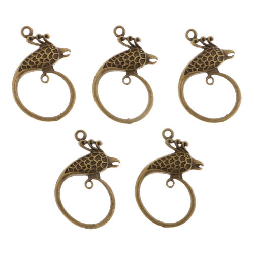 5pcs Phoenix Anhänger Charms Beads Schmuck Anhänger für Ohrringe