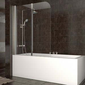 wow duschabtrennung badewanne duschwand faltwand glas badewannenfaltwand dusche ebay. Black Bedroom Furniture Sets. Home Design Ideas