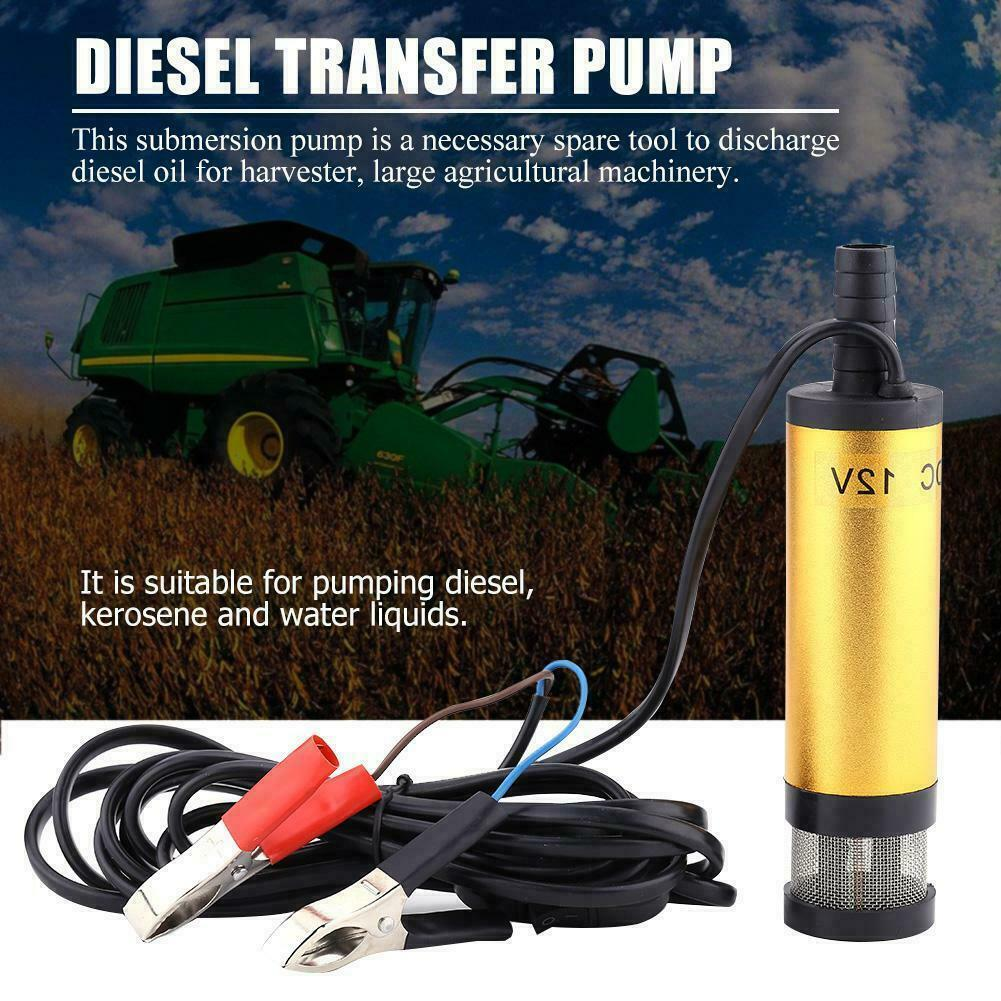 1.5A 12v 12L/min Submersible Electric Bilge Pump w/ Switch for diesel/oil/water