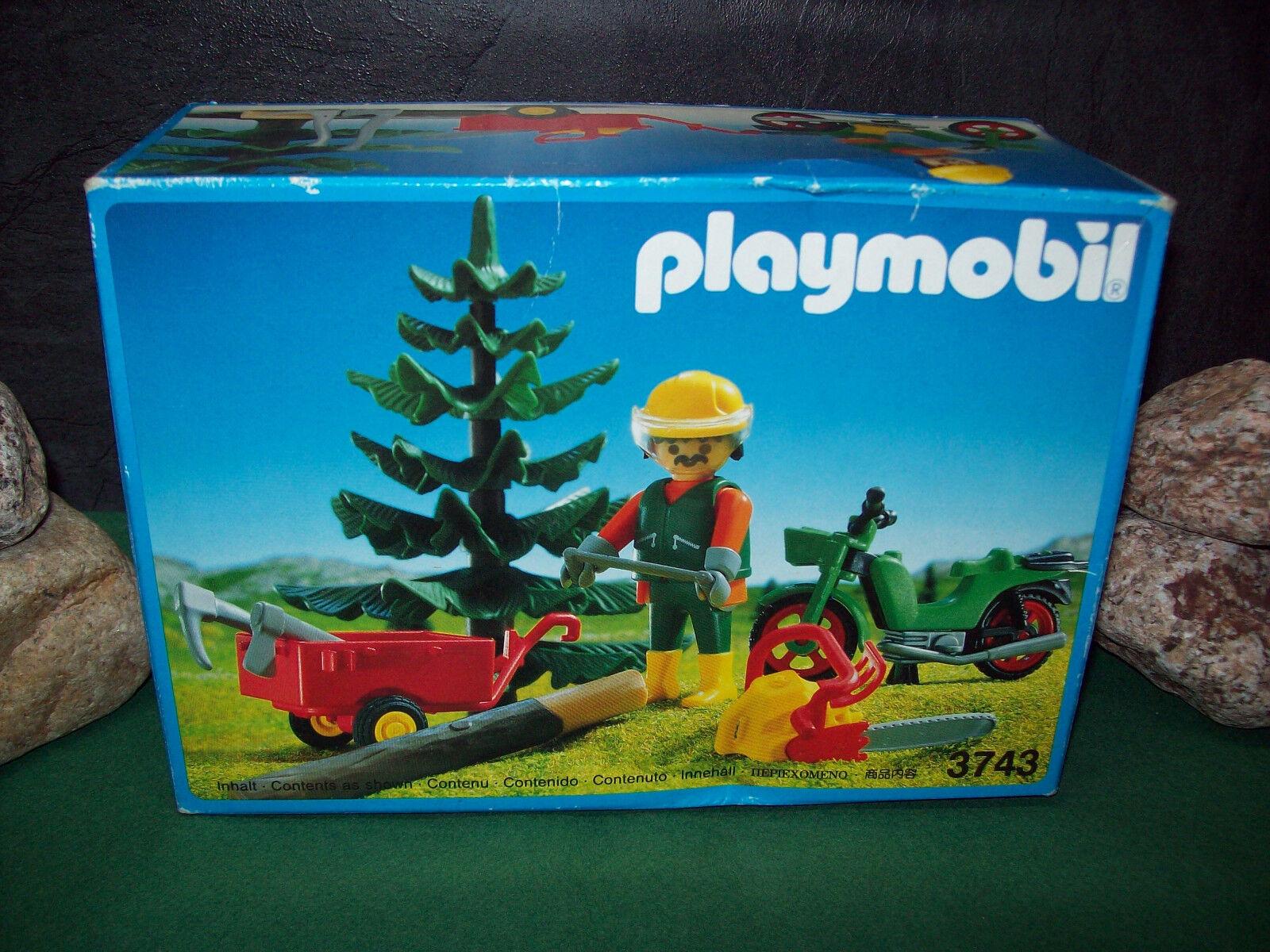 Playmobil Rarität Waldarbeiter 3743-A 1993, komplett in ungeöffn. OVP