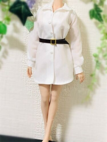 1//6 Scale Female Custom Clothes Business Wear Office Lady Style Long Shirt