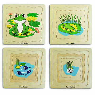 Wooden Frog Layer Puzzle by Fun Factory 3+